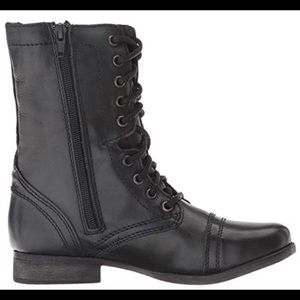 Steve Madden Troopa black combat boots, size 6.5